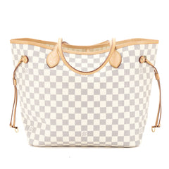 Louis Vuitton Damier Azur Neverfull MM Bag (Pre Owned)