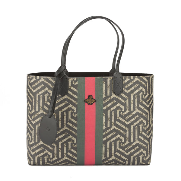 f396a79b085 Gucci Beige and Ebony GG Caleido Web Tote (New with Tags) - 3298006 ...