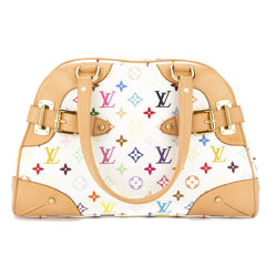 Louis Vuitton White Monogram Multicolore Claudia Bag (Pre Owned)
