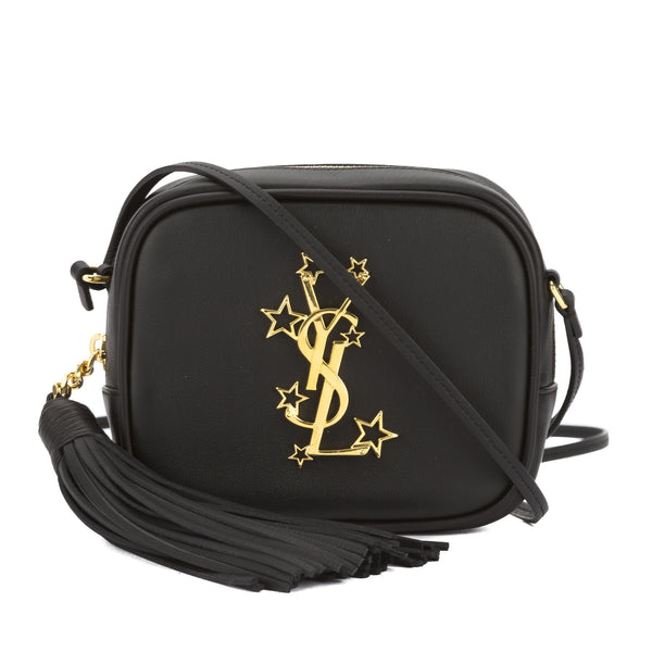 4543ae26 Saint Laurent Black Leather Monogram Blogger Bag (New with Tags)