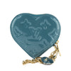 Louis Vuitton Blue Galactic Monogram Vernis Heart Coin Purse (Pre Owned)