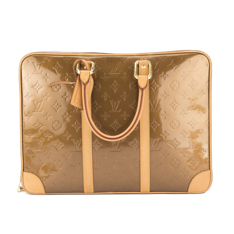 Louis Vuitton Bronze Monogram Vernis Vandam Briefcase (Pre Owned)