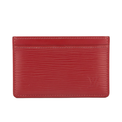 Louis Vuitton Carmine Epi Porte-Cartes Simple Card Holder (Pre Owned)