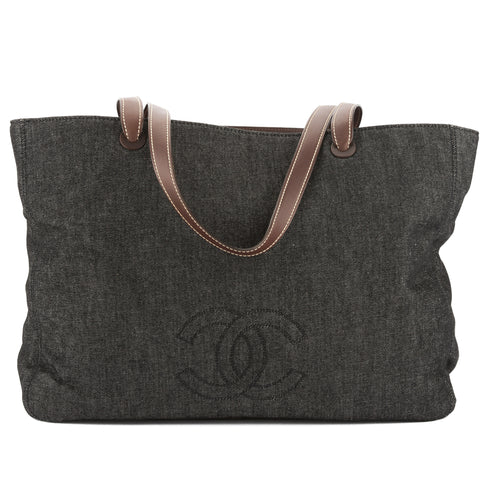 Chanel Blue Denim Coco Mark Tote Bag (Pre Owned)