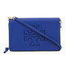 Tory Burch Wallis Blue Leather Harper FLat Wallet Crossbody (New With Tags)