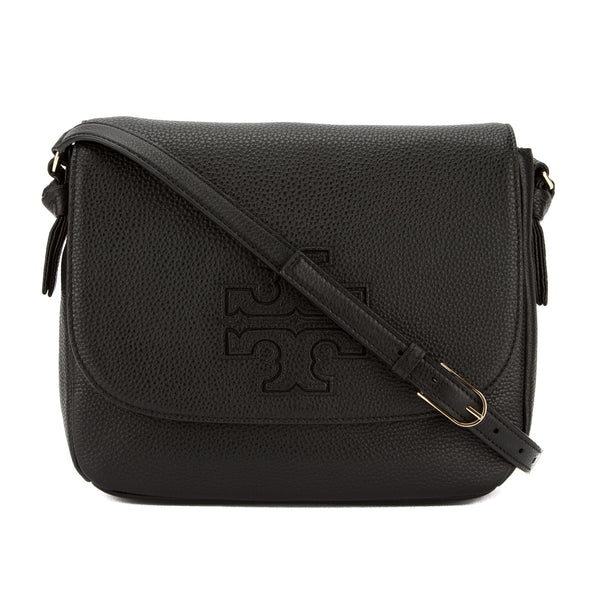 478d89d7c204 Tory Burch Black Leather Harper Messenger Bag (New With Tags ...