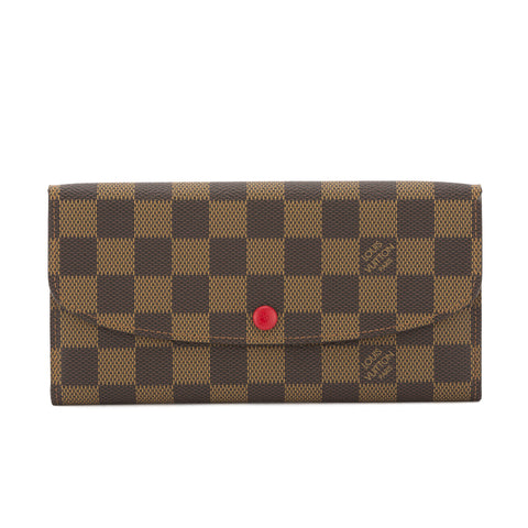 Louis Vuitton Damier Ebene Portefeuille Emilie Wallet (Pre Owned)