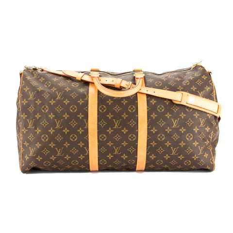 Louis Vuitton Monogram Keepall Bandouliere 55 Bag (Pre Owned)