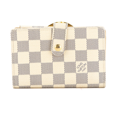 Louis Vuitton Damier Azur Porte-Monnaie Billets Viennois Wallet (Pre Owned)