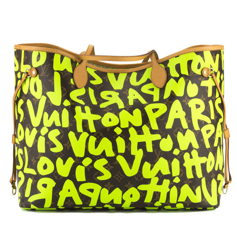 Louis Vuitton Green Monogram Stephen Sprouse Graffiti Neverfull GM Bag (Pre Owned)