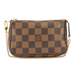 Louis Vuitton Damier Ebene Mini Pochette Accessoires Bag (Pre Owned)
