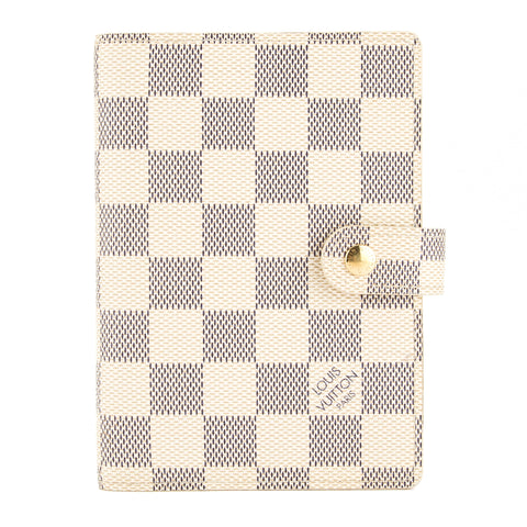 Louis Vuitton Damier Azur Agenda PM Day Planner Cover (Pre Owned)