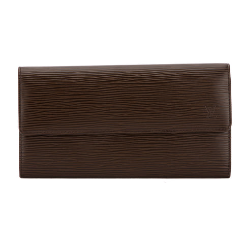 Louis Vuitton Mocha Epi Porte-Monnaie Wallet (Pre Owned)