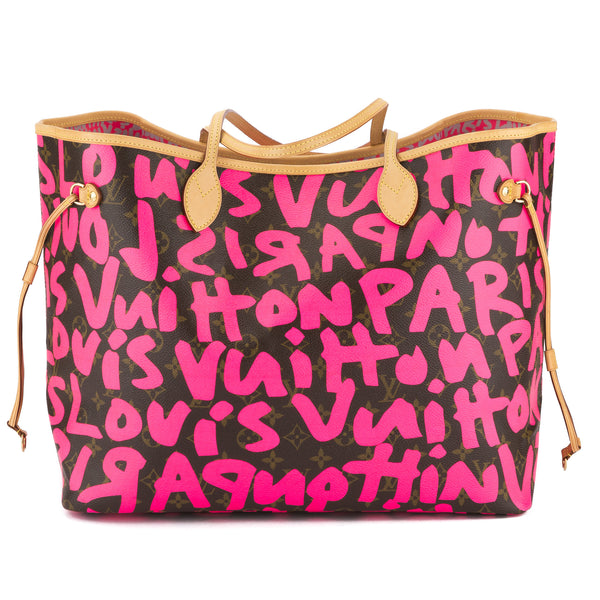 f4ec8d191a86 Louis Vuitton Neon Pink Monogram Stephen Sprouse Graffiti Neverfull GM Bag  Pre Owned