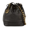 Chanel Black Lambskin Leather Bucket Bag (Pre Owned)
