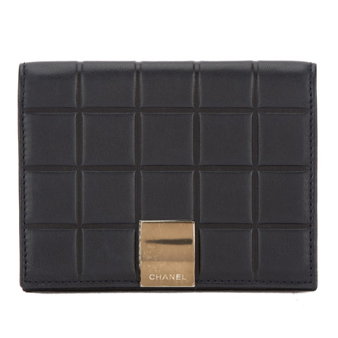 Chanel Navy Chocolate Bar Lambskin Leather Notebook Cover (Pre Owned)