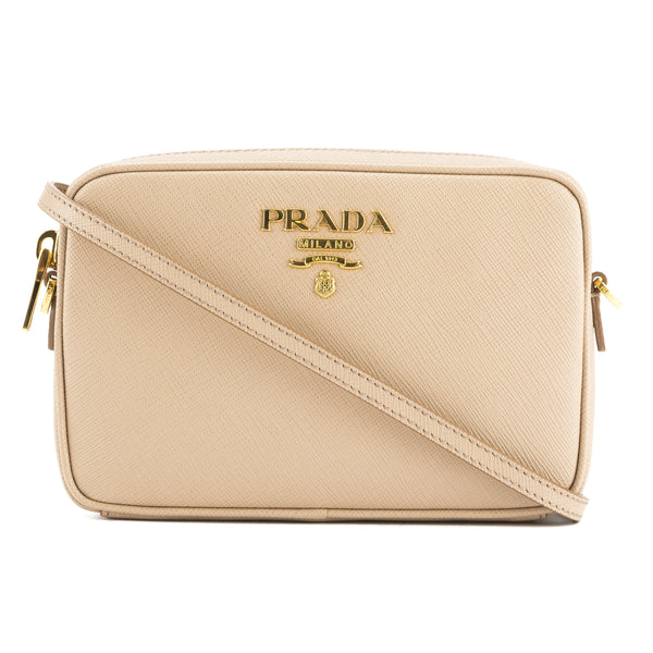 f7ed27692b7e Prada Tan Saffiano Leather Camera Bag (New with Tags) - 3362001 | LuxeDH
