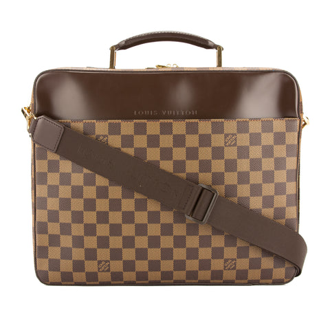 Louis Vuitton Damier Ebene Porte Ordinateur Sabana Computer Case (Pre Owned)