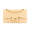 Chanel Beige Quilted Lambskin Leather Small Double Flap Bag (Pre Owned)