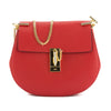 Chloé Plaid Red Leather Small Drew Shoulder Bag (New with Tags)