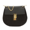 Chloé Black Suede and Leather Small Drew Shoulder Bag (New with Tags)