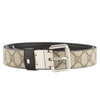 Gucci Black Leather Reversible GG Belt (New with Tags)