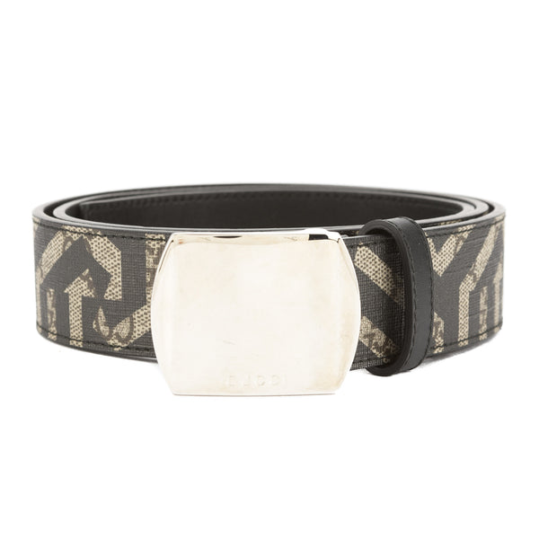 47df6d66b95 Gucci Beige and Ebony GG Supreme GG Caleido Belt (New with Tags ...