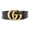 Gucci Black Leather Belt with Double G Buckle (New with Tags)