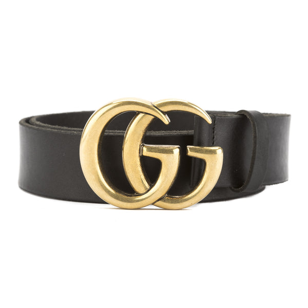 1c86b564a15 Gucci Black Leather Belt with Double G Buckle (New with Tags ...