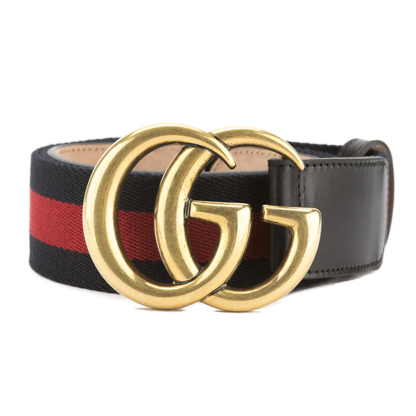a7f8e9720e3 Gucci Blue and Red Nylon Web Belt with Double G Buckle (New with ...