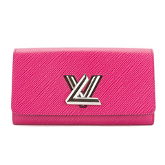 Louis Vuitton Hot Pink Epi Leather Twist Wallet (Pre Owned)