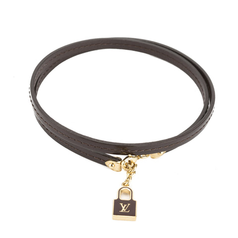 Louis Vuitton Amarante Vernis Leather Commit Bracelet (Pre Owned)