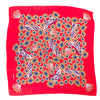 Chanel Red Silk Medallion Print Scarf (Pre Owned)