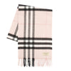 Burberry Ash Rose Cashmere Giant Check Scarf (New with Tags)