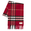 Burberry Claret Cashmere Giant Check Scarf (New with Tags)