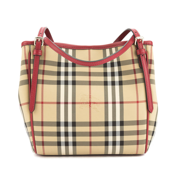 Burberry Parade Red Horseferry Check Small Canterbury Tote Bag New with Tags 0920ef2306284