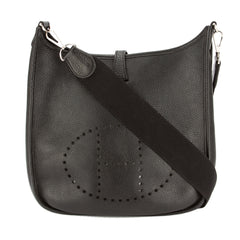 Hermes Black Togo Leather Evelyne I PM Bag (Pre Owned)