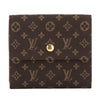 Louis Vuitton Ebene Monogram Mini Lin Porte-Monnaie Billets Cartes Wallet (Pre Owned)