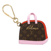 Louis Vuitton Pink and Red Monogram Porte Cles Alma BB Bag Charm (Pre Owned)