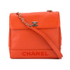 Chanel Orange Caviar Leather Shoulder Bag (Pre Owned)