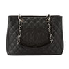 Chanel Black Quilted Caviar Leather Grand Shopping Tote GST Bag (Pre Owned)