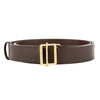 Chanel Brown Leather Double Tour Belt (Pre Owned)