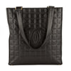 Chanel Black Chocolate Bar Lambskin Leather Tote Bag (Pre Owned)
