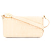 Chanel Ivory Chocolate Bar Lambskin Leather Coco Mark Bag (Pre Owned)