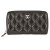 Chanel Black Quilted Lambskin Leather Coco Mark Coin Purse (Pre Owned)