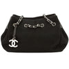 Chanel Black Canvas Chain Shoulder Bag (Pre Owned)