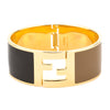 Fendi Black and Brown Enamel Fendista Cuff (New with Tags)