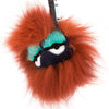 Fendi Red Mixed Fur Blueminous Bag Bug Charm (New with Tags)