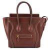Celine Burgundy Leather Micro Luggage Handbag (New with Tags)