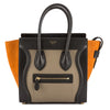 Celine Tawny Leather Tricolor Micro Luggage Handbag (New with Tags)